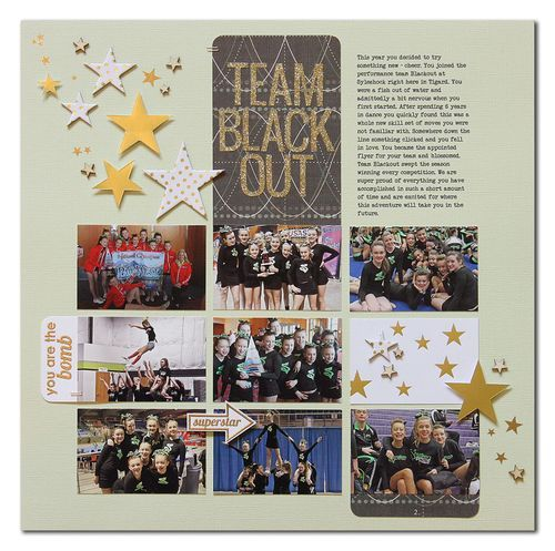 Team Blackout by Summer Fullerton - Great layout design to include lots of photos