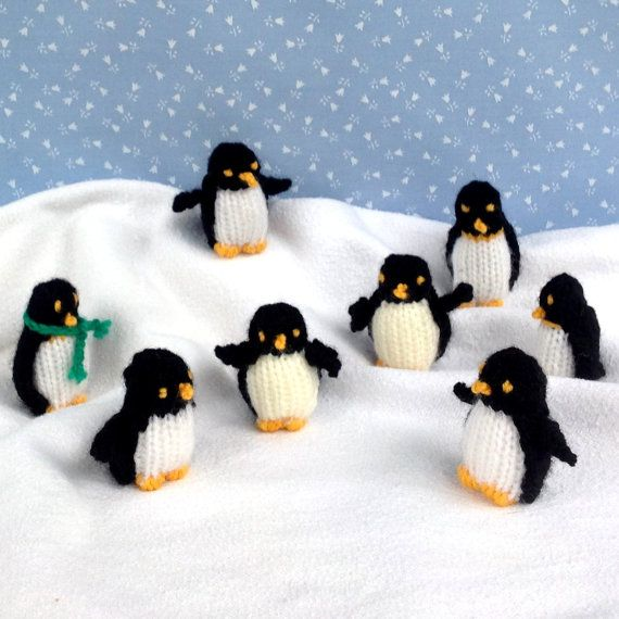 * This is an INSTANT DIGITAL DOWNLOAD - PDF knitting pattern - NOT a finished item * * Pattern is written in ENGLISH * TINY PENGUINS measures 5cm