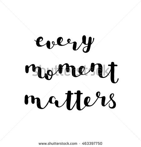 Every moment matters. Brush hand lettering. Inspiring quote. #lettering…