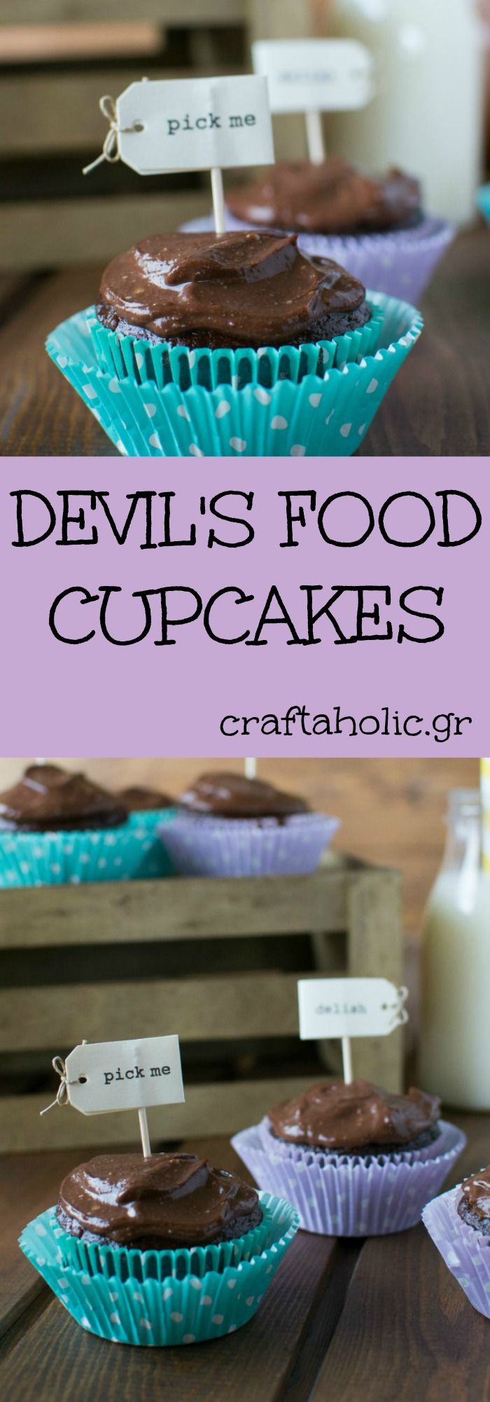 Marisa Churchill's recipe for delicious chocolate cupcakes with 57% less calories and fat than other recipes. I really love it!
