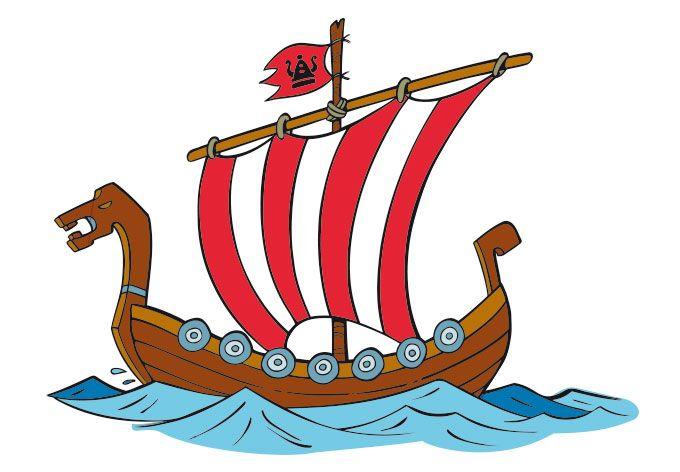 Wandtattoo Wikingerschiff 1 - Wickie und die starken Männer   wall-art.de