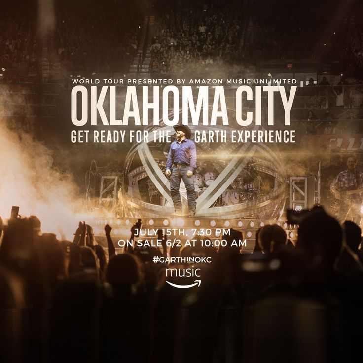 Oklahoma City, Get ready for the Garth Experience! Garth Brooks will be in Oklahoma City July 15th at 7:30pm at the Chesapeake Energy Arena. KFOR and Chesapeake Energy Arena would like to send you and a friend to see our own Oklahoma legend, Garth Brooks! www.KFOR.com/Garth