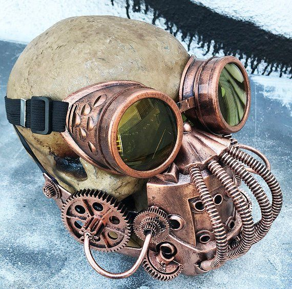 Bronze Demented Steam Punk Victorian Goggles Cosplay Costume Accessory Unisex