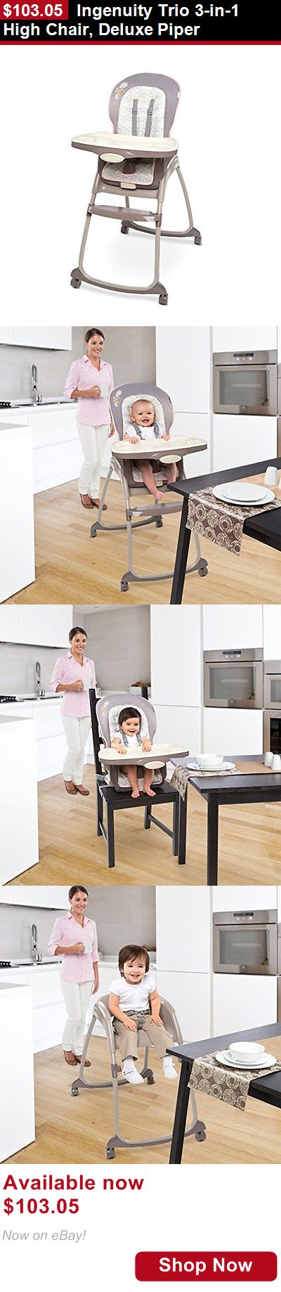 Baby High Chairs: Ingenuity Trio 3-In-1 High Chair, Deluxe Piper BUY IT NOW ONLY: $103.05