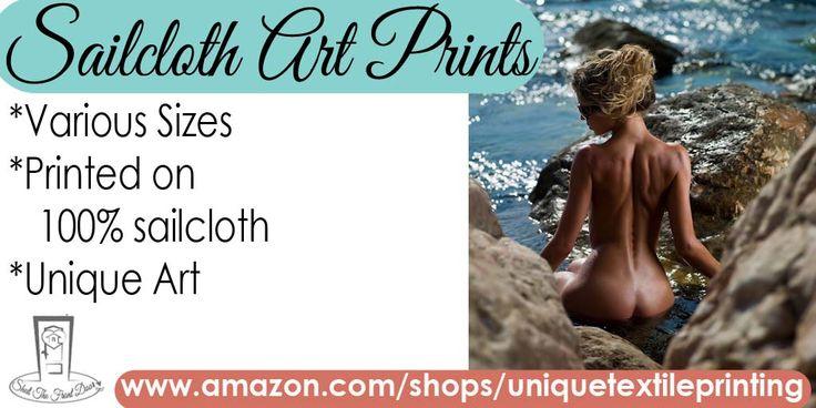 Mermaid Sailcloth Art Print