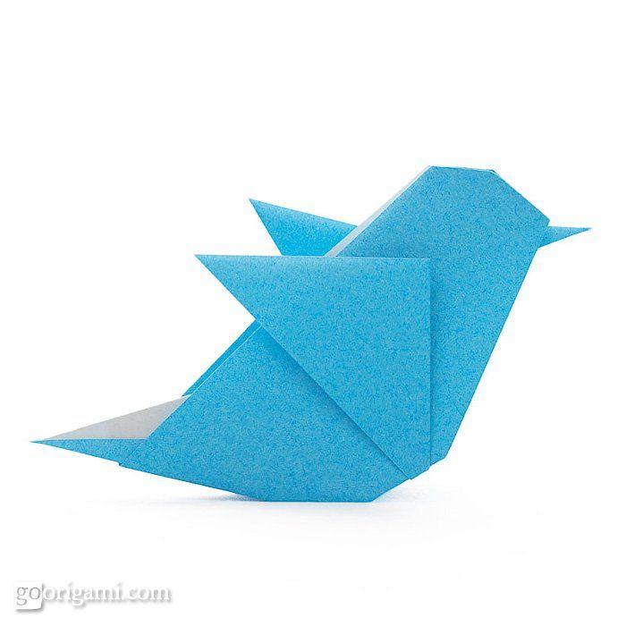Origami Twitter bird by Maria Sinayskaya   Go Origami!