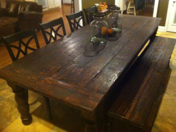 Items Similar To Rustic 10 Foot Heart Pine Farmhouse Table W Bench On Etsy Find This Pin And More Early American Dining