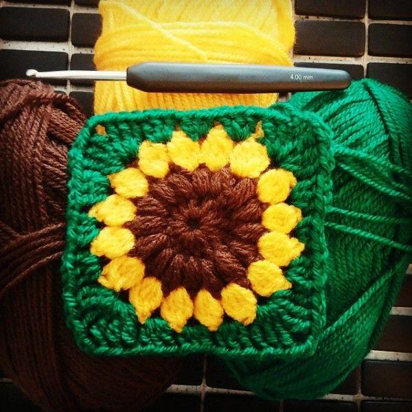 vaynilla_love crochet sunflower