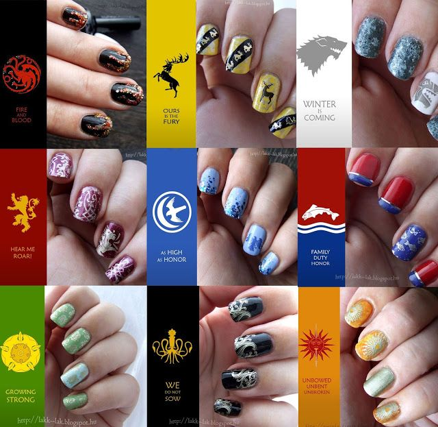 307 best charactertheme nails images on pinterest nail art game of thrones nail art challenge sszefoglal prinsesfo Choice Image