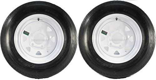 "Two Trailer Tires & Rims 5.30-12 530-12 5.30 X 12 12"" 5 Hole Wheel White Spoke  #wheelsandtires https://www.safetygearhq.com/product/tyre-shop-tire-warehouse/two-trailer-tires-rims-5-30-12-530-12-5-30-x-12-12-5-hole-wheel-white-spoke/"