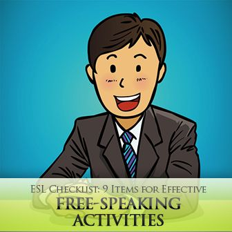 This is a great checklist to make sure your speaking activity will help ELLs learn and practice their English speaking skills.