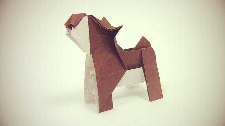 Origami Dog easy by Yakomoga - Yakomoga Origami tutorial