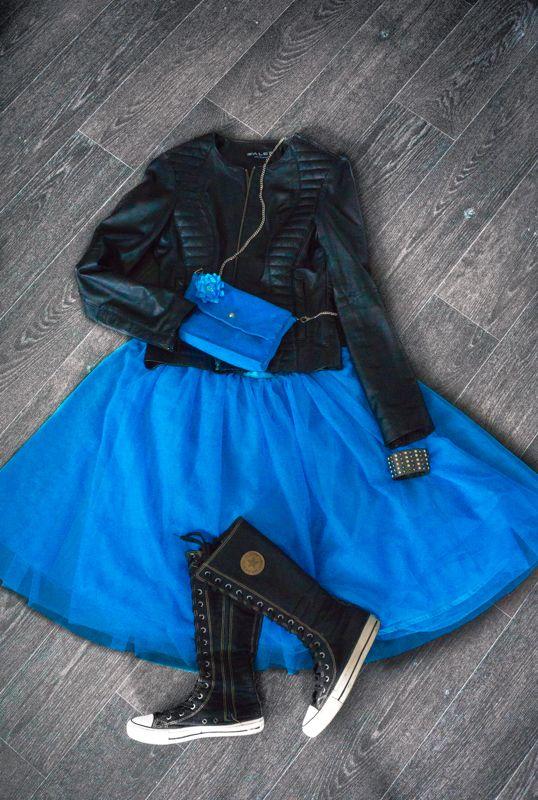 blue veiling princess like skirt #handmade #soulmade #skirt #princess
