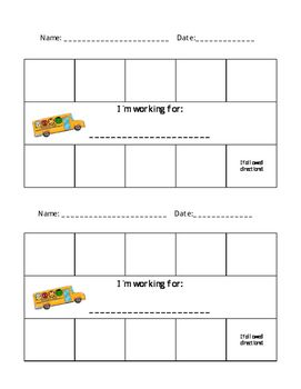 This simple sticker chart can be used along side the Superheroes Follow Directions social story or on its own. This page contains two charts with 10 spaces and a blank space available to write in what the student is working for.