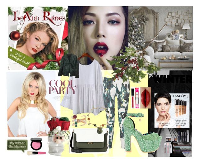 """""""#50: I miss you like Christmas - Leann Rimes"""" by sarah-m-smith ❤ liked on Polyvore featuring DAY Birger et Mikkelsen, Iron Fist, Marni, Crate and Barrel, NOVICA, Eshvi, Lancôme, Bobbi Brown Cosmetics, Anya Hindmarch and Lafayette 148 New York"""