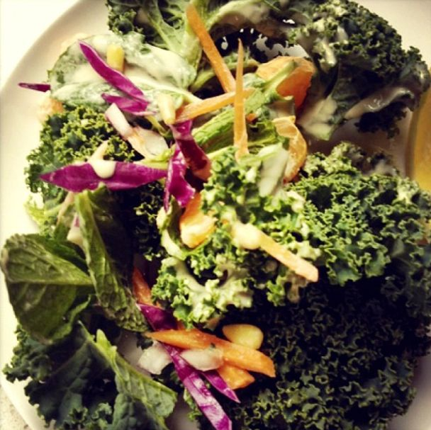 It is feeling like a salad sort of day, needing crisp, crunch and quench, like our Crunchy Kale, Mint and Tahini Salad.....so super yummy (-:   For the recipe visit our cool book: http://www.mayvers.com.au/crunchy-kale-mint-and-tahini-salad/   #mayvers #purestate #cleaneating #glutenfree #sugarfree #soyummy #summer #recipe