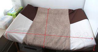 was brauchst du:     - Frottee Handtuch oder Frotteestoff   - Baumwollstoff   - Gummilitze   - evtl. Webbänder und Applikationen       ...
