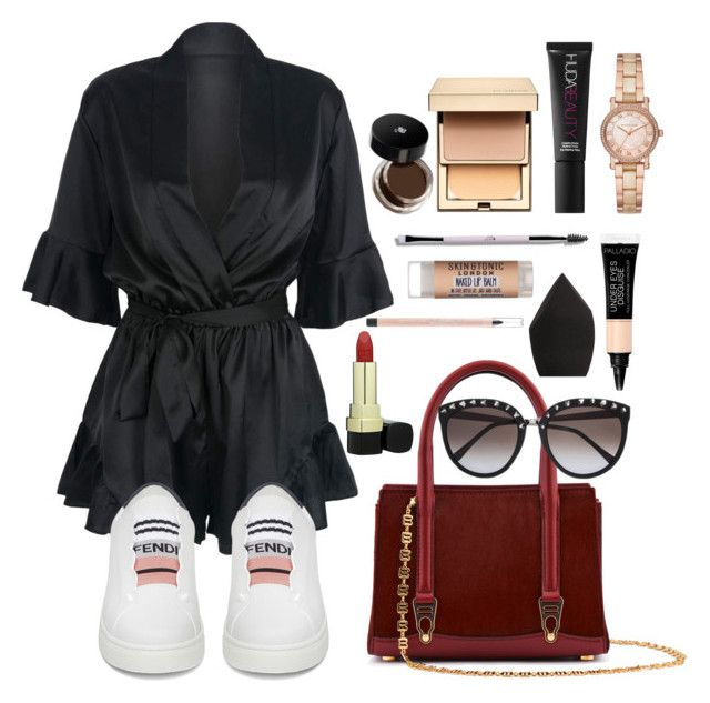 """1st reason why"" by daphne-mediana ❤ liked on Polyvore featuring La Perla, WithChic, Fendi, Michael Kors, Huda Beauty, Clarins, Lancôme, Yves Saint Laurent, Skin & Tonic and Dolce&Gabbana"