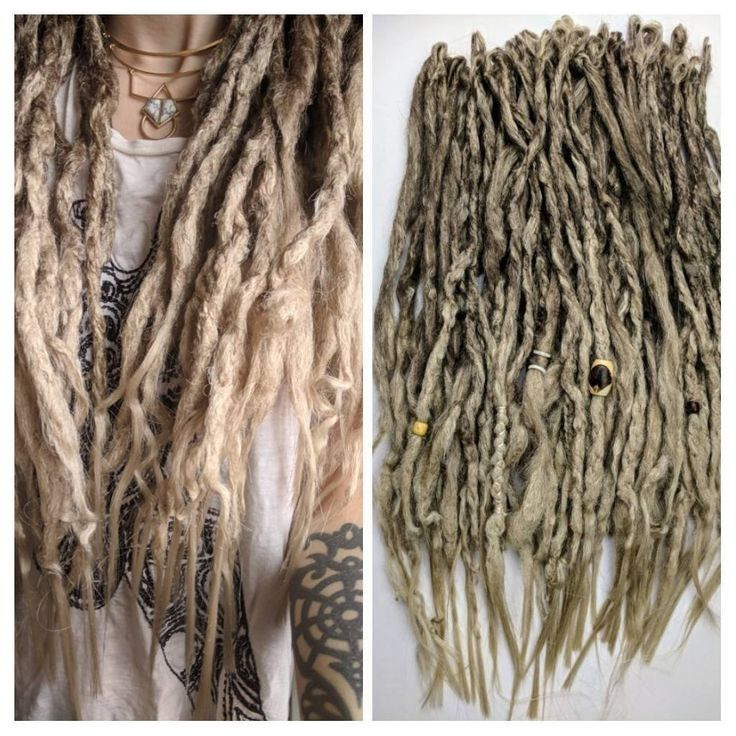 """Excited to share the latest addition to my #etsy shop: Ash blonde ombre synthetic dreads. Wavy curled dreadlocks. Knotty dreads. Full kit of 60, 16-20"""" long, 1/2-1"""" thick. Made, Ready to Ship #accessories #hair #extensions #dreadlocks #dreads #synthetic #dreadlockextensions #dreadextensions #dread http://etsy.me/2Eu2D7c"""