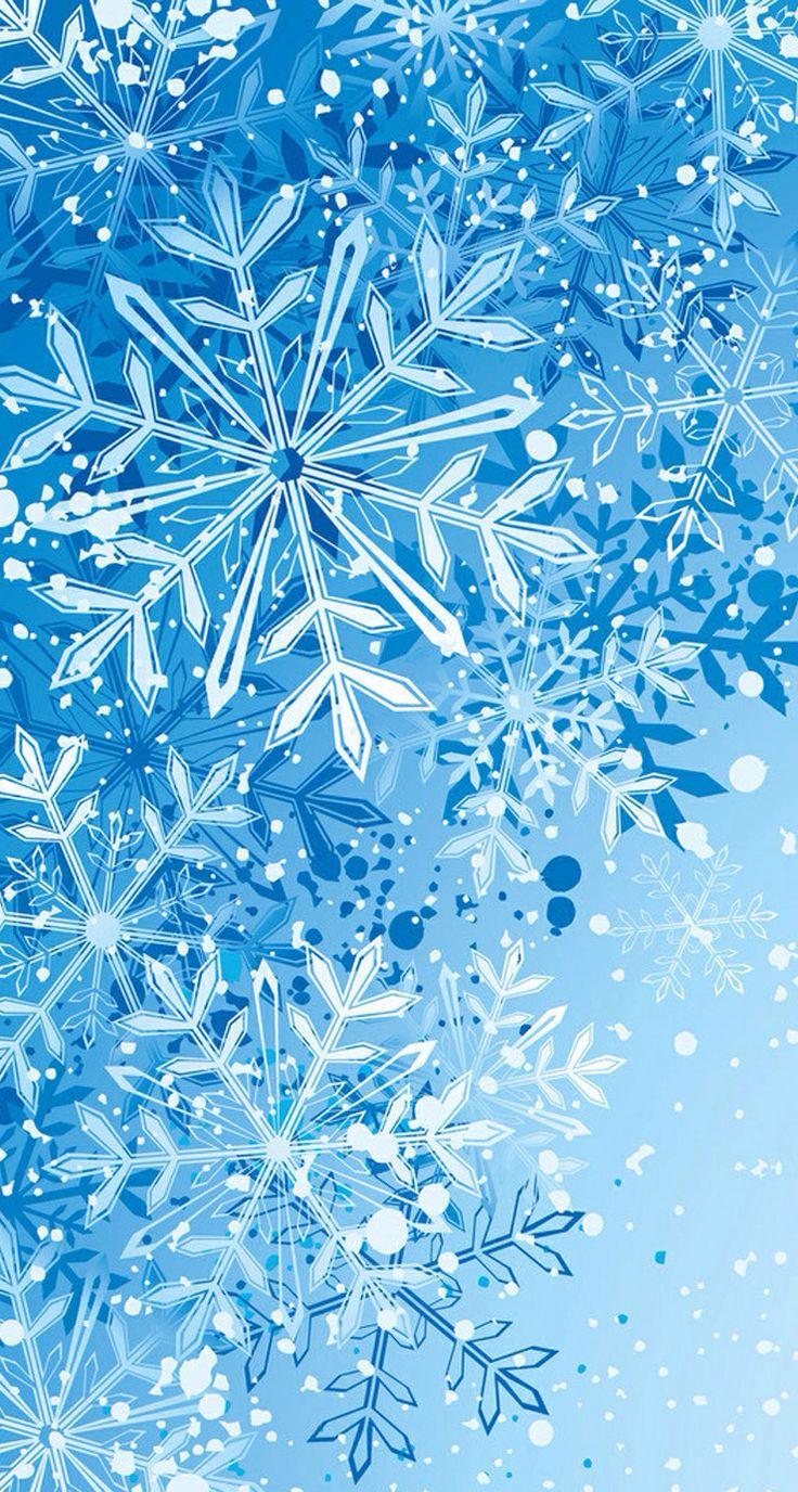 Snowflake wallpaper | Wallpapers | Pinterest | Wallpaper, Snowflake wallpaper and Christmas ...