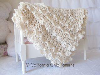 Victorian Crochet Baby Blanket Pattern #89 by Kyoko - California Chic Patterns