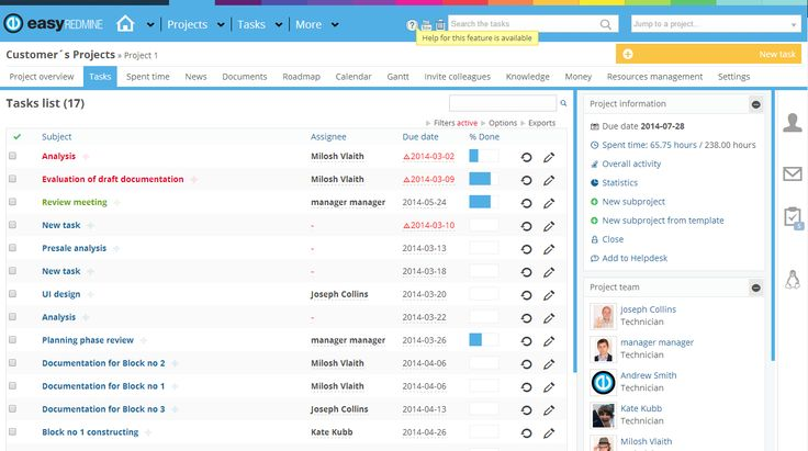 Easy Redmine Projects Tasks Theme http://www.easyredmine.com/
