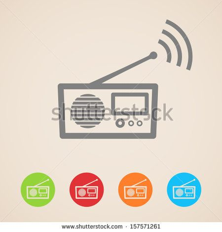 vector radio icons - stock vector