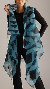 "Yes, please!  ""Asymmetrical Vest""    Silk Shibori Vest    Created byAmy Nguyen"