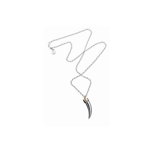 Karen Walker Jewellery SILVER TUSK NECKLACE found on Polyvore