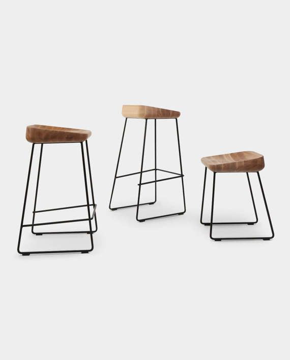 WAVE  wooden bar stool