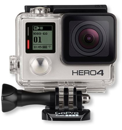 GoPro HERO4 BLACK Action Cam for $384.99, HERO4 Silver for $329