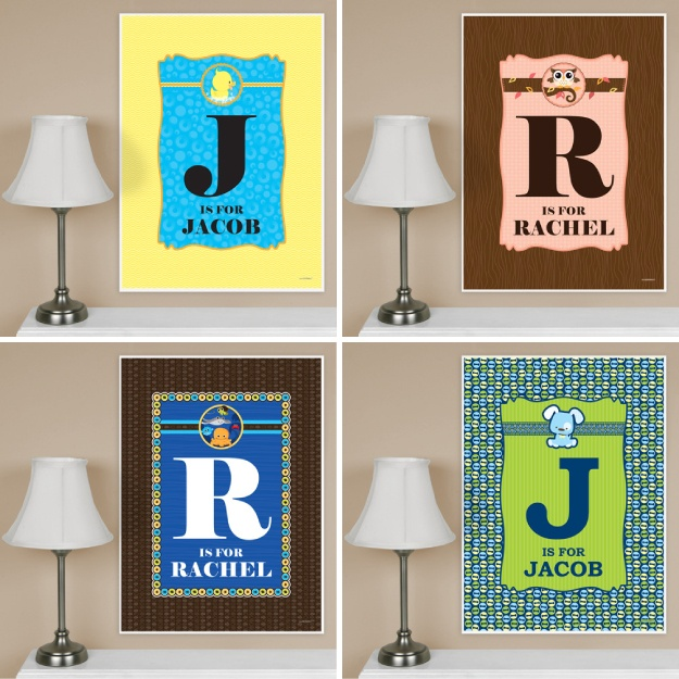 Baby shower gift personalized poster for nursery http for Poster decoratif