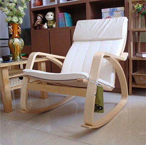 Elegant Nimm Einen Stuhl Schaukelstuhl Nordic Balcony Lazy Schaukelstuhl Massivholz  Lounge Sessel Lounge Chair Schaukelstuhl Schwangere Frauen