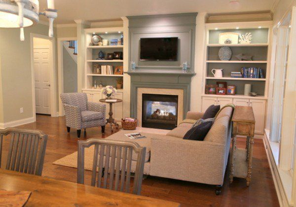 make tv blend in over fireplace