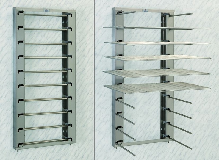Wall mount cookie sheet holder. Arms can fold in! Space saver!