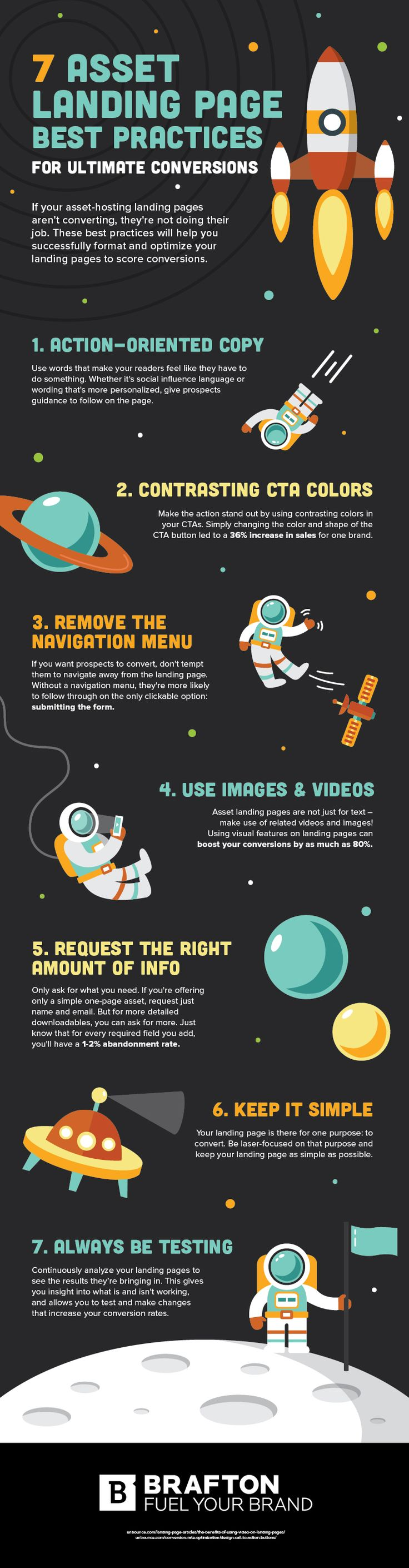 7 Landing Page Best Practices for Ultimate Conversions #Infographic #WebDesign