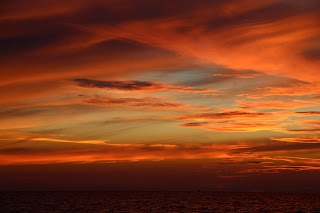 A spectacular sunset in Mastichari on the island of Kos in Greece