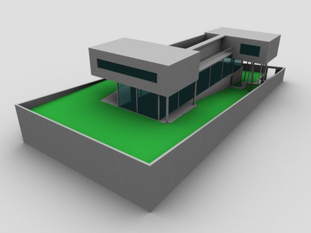 Rem koolhaas villa dall ava maqueta buscar con google for Dall ava parquet