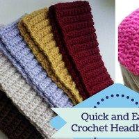 Super Quick Crochet Headband Tutorials