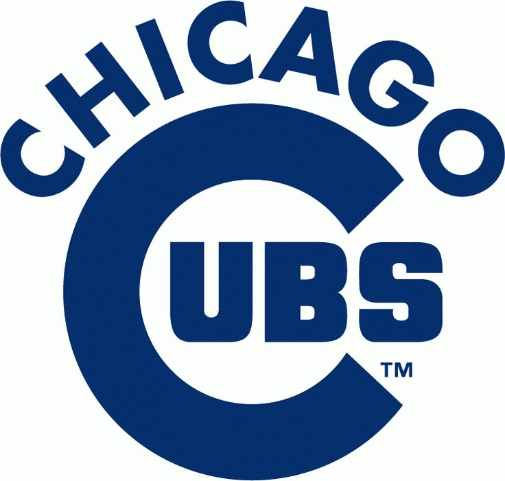 Chicago Cubs Wordmark Logo (1979) - Large C in Cubs below arched Chicago all in blue