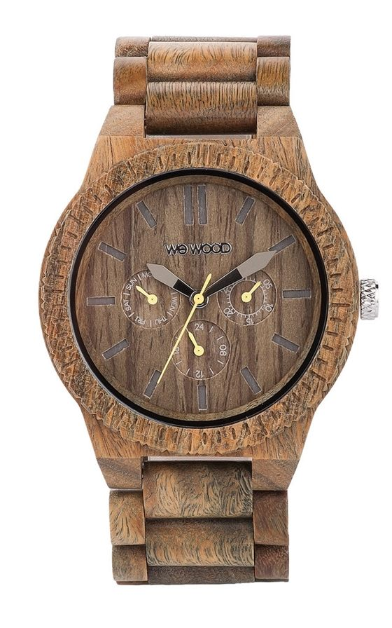 The WeWOOD Kappa Army is a beautifully designed large face watch made from recycled Verawood. The watch features a large multi function dial that  ...