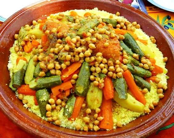 La receta mas famosa en marruecos cuscus http://www