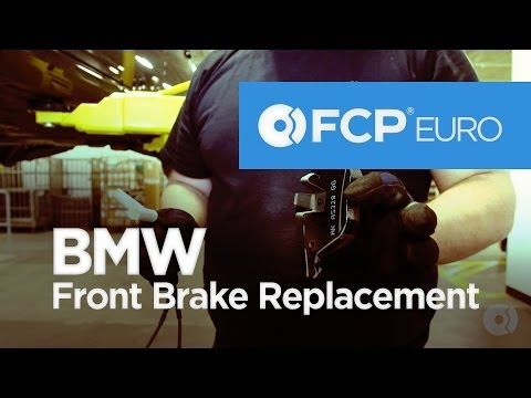 ▶ BMW E90 Front Brake Replacement (328i Pads, Rotors & Sensors) FCP Euro - YouTube