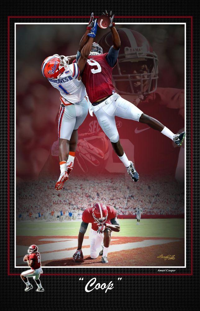 AMARI COOPER ALABAMA CRIMSON TIDE FOOTBALL S/N PRINT #AlabamaCrimsonTide