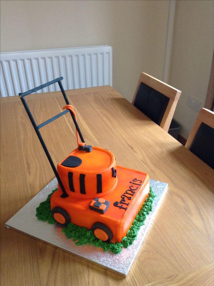 Lawn mower cake.