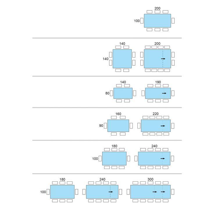 Medidas de mesas cuadradas para 12 personas buscar con - Medidas mesa de comedor ...