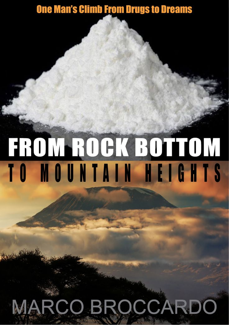 Draft cover idea for 'From Rock Bottom to Mountain Heights'.