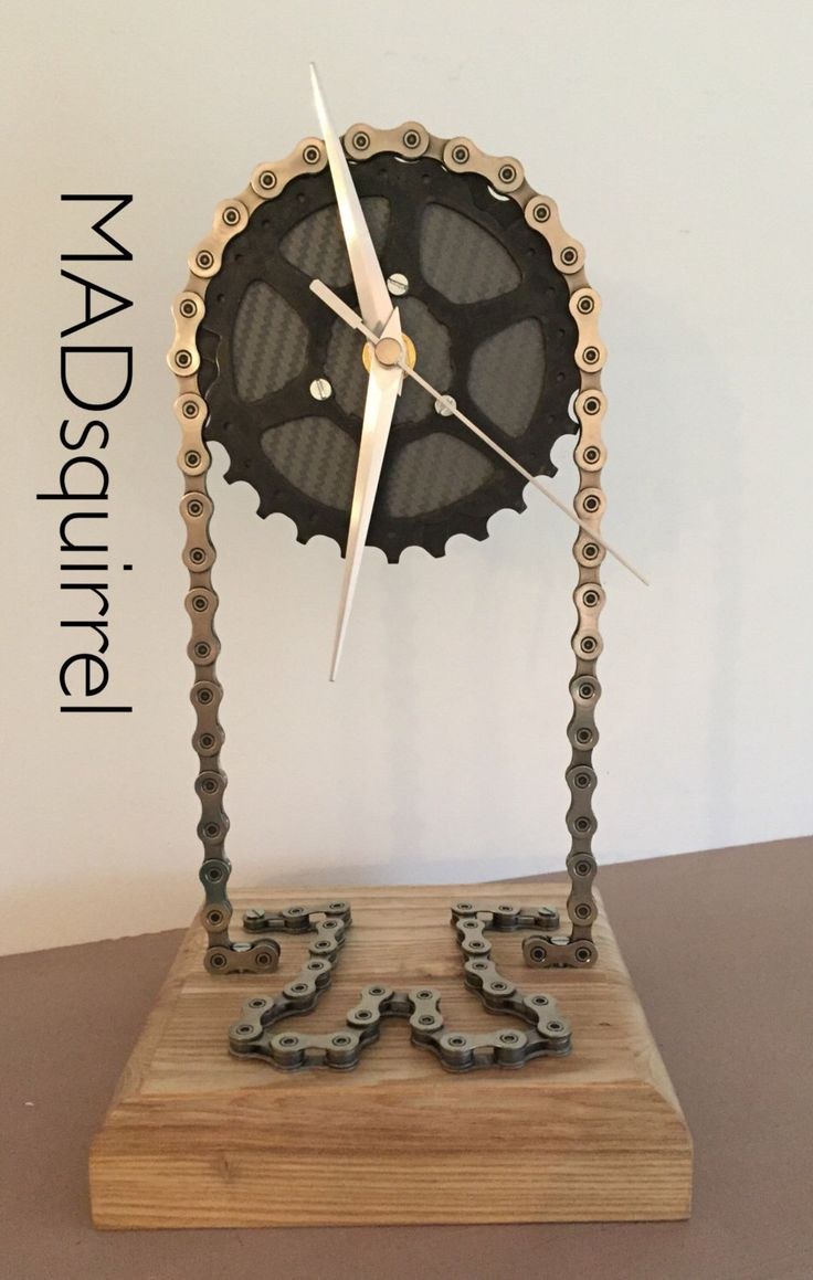 A personal favourite from my Etsy shop https://www.etsy.com/uk/listing/478505900/floating-sprocket-desk-clock-with-grey