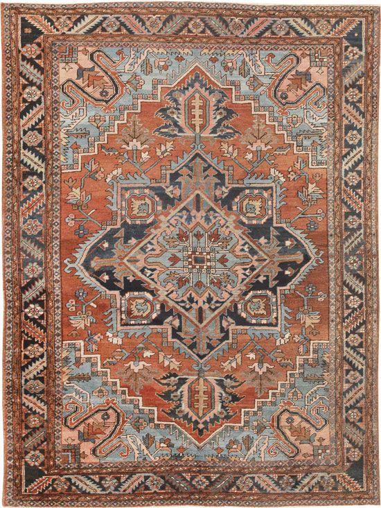 Antique Heriz Persian Rugs 44802 Main Image - By Nazmiyal