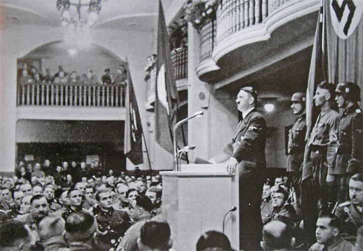 Hitler during the November 1939 aniversary celebration at ...